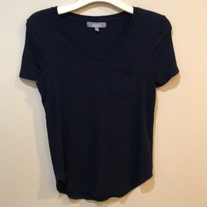 Marled T-shirt with pocket